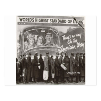 Breadline Postcard