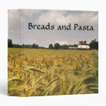 Breads and Pasta Recipes Binders