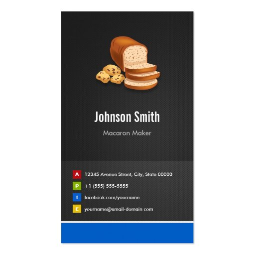 Breads Toast Cookies Dessert - Creative Innovative Business Card Templates