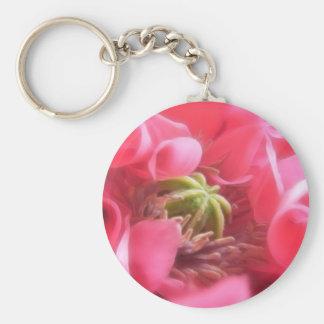 Breadseed Poppy - Papaver Somniferum Basic Round Button Keychain