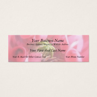 Breadseed Poppy - Papaver Somniferum Mini Business Card