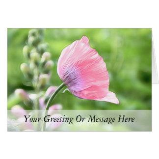 Breadseed Poppy Petals Card