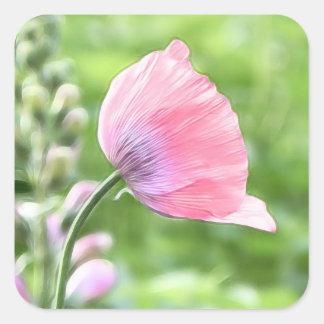 Breadseed Poppy Petals Square Sticker