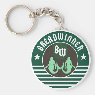 Breadwinner Green Keychain