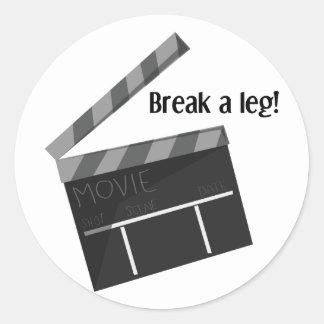 Break A Leg Classic Round Sticker