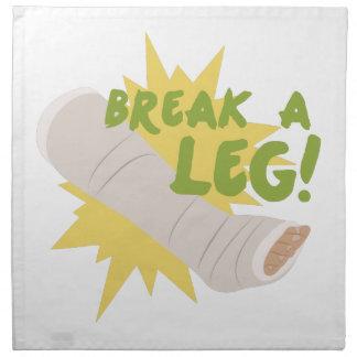 Break A Leg Cloth Napkin