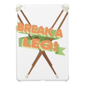 Break A Leg Crutches iPad Mini Cases