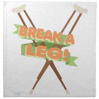 Break A Leg Crutches Napkin
