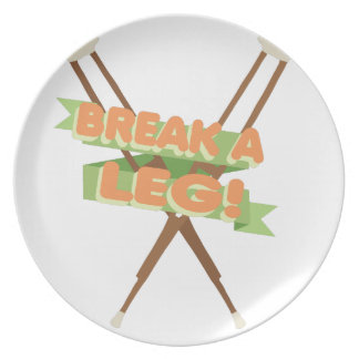 Break A Leg Crutches Plate