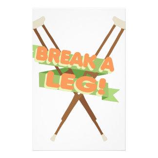 Break A Leg Crutches Stationery