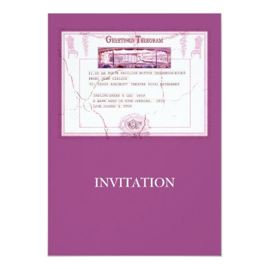 Break a Leg Invitation