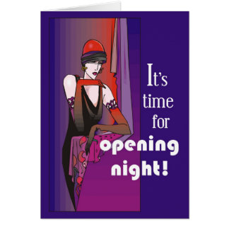 Break a Leg on Opening Night, Flapper Greeting Card