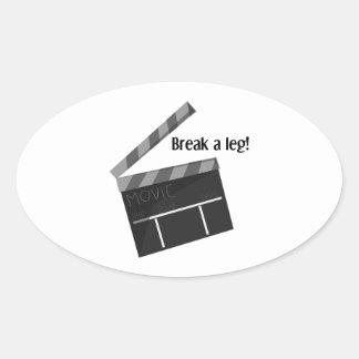 Break A Leg Oval Sticker