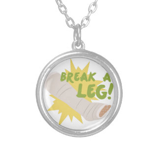 Break A Leg Silver Plated Necklace