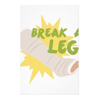 Break A Leg Stationery