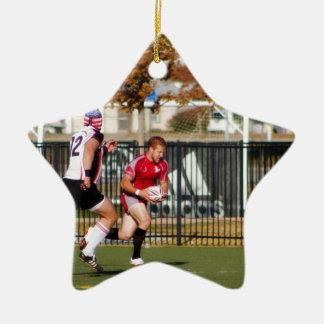 Break Away Run Double-Sided Star Ceramic Christmas Ornament
