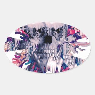 Break Away Skull Oval Sticker