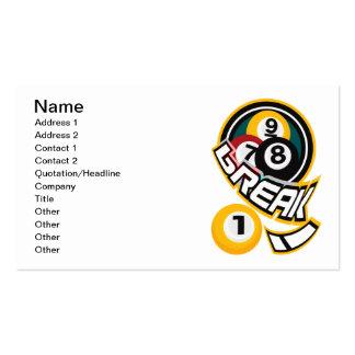 break! business card