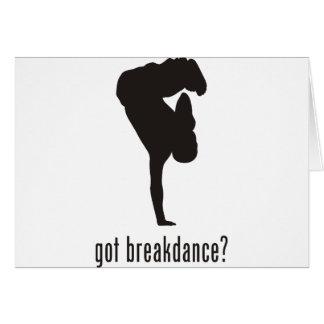 Break Dance Greeting Card