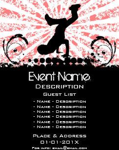 break dance event promotion flyer