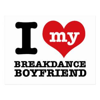 Break dance gift items for lovers of the dance postcard