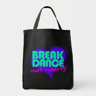 Break Dance not hearts Tote Bag