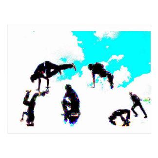 Break dance postcard