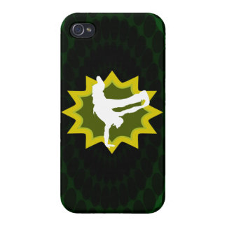 Break Dancer on Cool Retro Background Case For iPhone 4