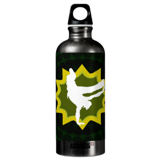 Break Dancer on Cool Retro Background Water Bottle