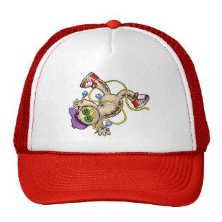break dancer voodoo puppet trucker hat