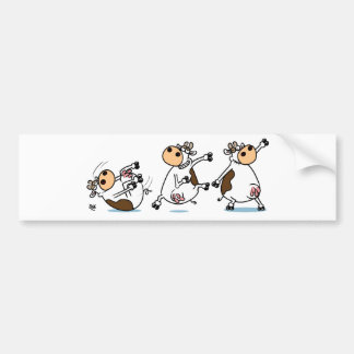 Break Dancing Cow Bumper Sticker