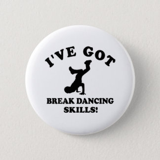 Break dancing designs button