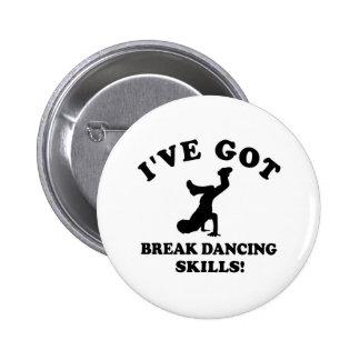 Break dancing designs pins