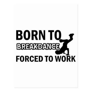 Break dancing designs postcard