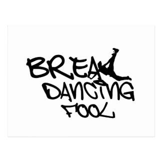 Break Dancing Fool Postcard