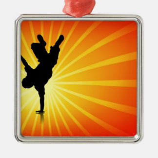 Break Dancing Metal Ornament
