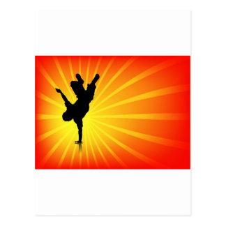 Break Dancing Postcard