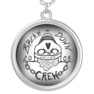 Break-Down Crew Medalion Silver Plated Necklace