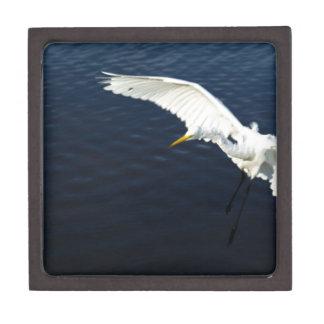 Break egret landing.jpg premium trinket box