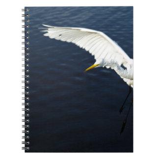 Break egret landing.jpg spiral notebook