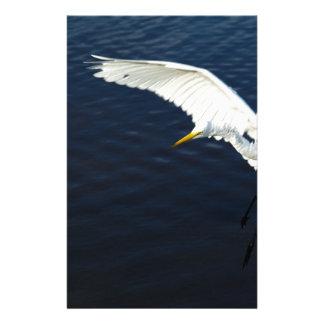 Break egret landing.jpg stationery