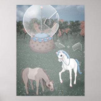 """Break Free"" Carousel Horse Print"