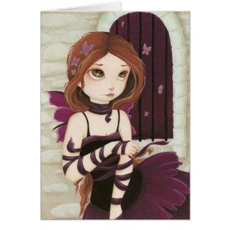 Break Free - Color ME inside -Fairy butterfly card