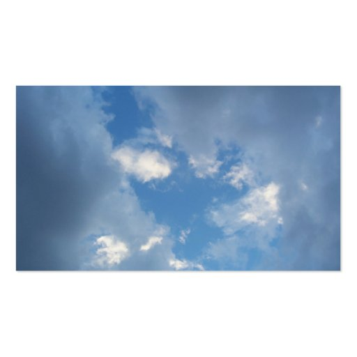 Break In The Clouds Business Card Template