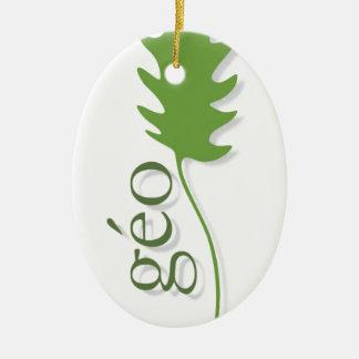 break into leaf ceramic ornament