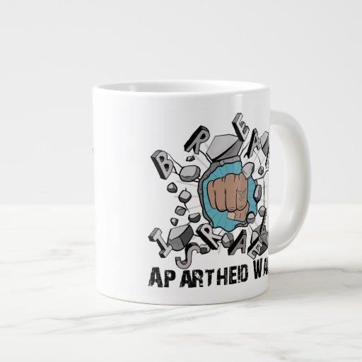 Break Israeli Apartheid Wall Extra Large Mug
