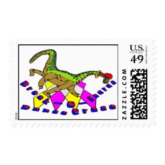 Break-O-Saurus Dance Craze Postage Stamps