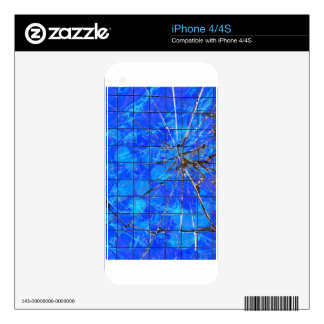 Break on Through - Blue iPhone 4S Decal