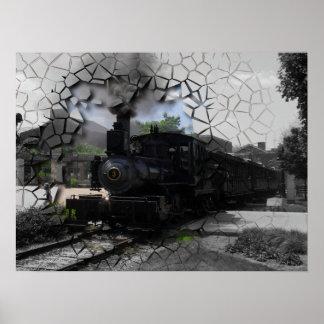 Break On Through Train Poster