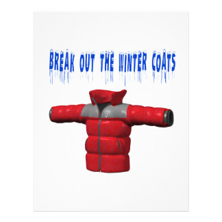 Break Out The Winter Coat Flyer Design